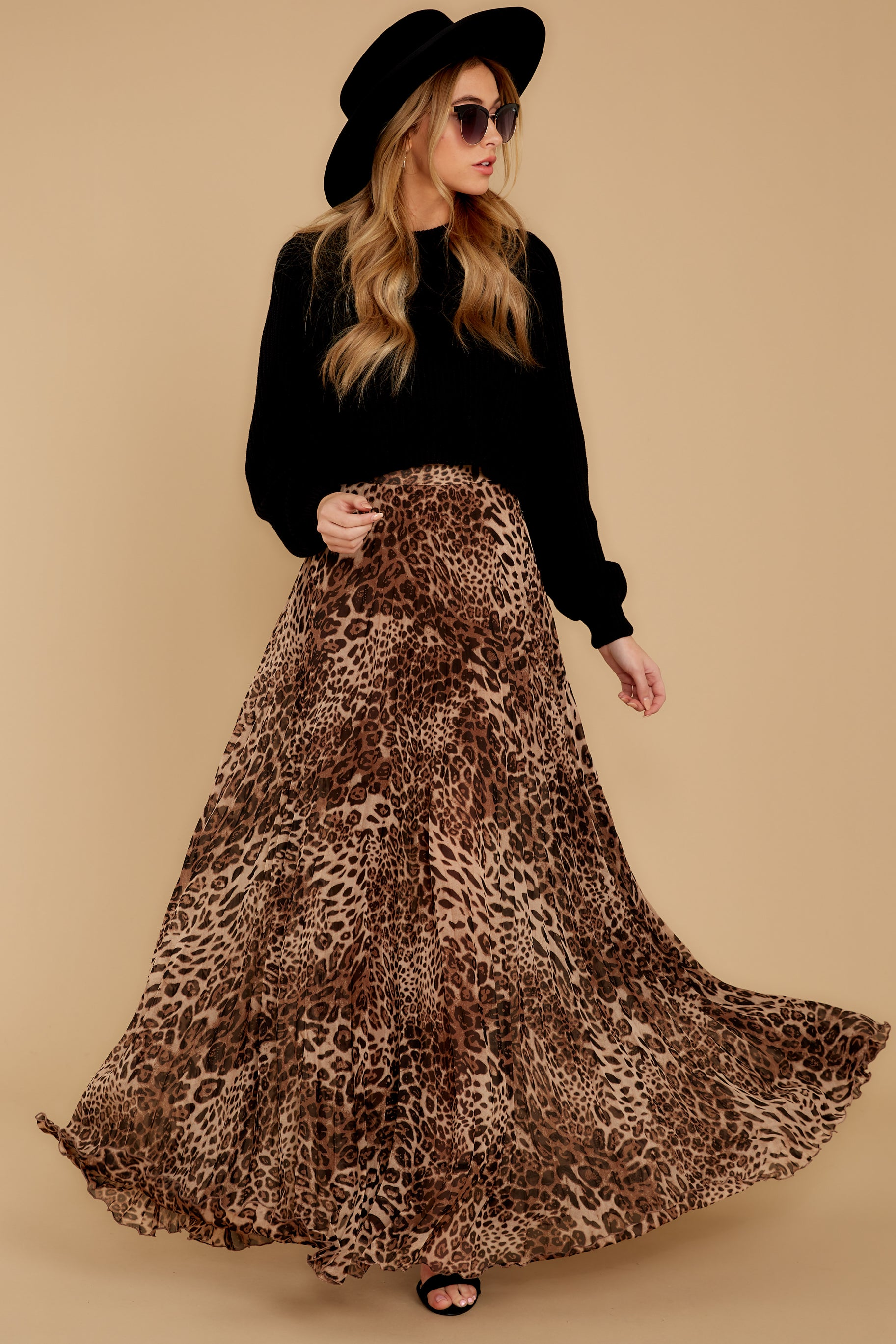 7 Now Trending Leopard Print Midi Skirt at reddressboutique.com
