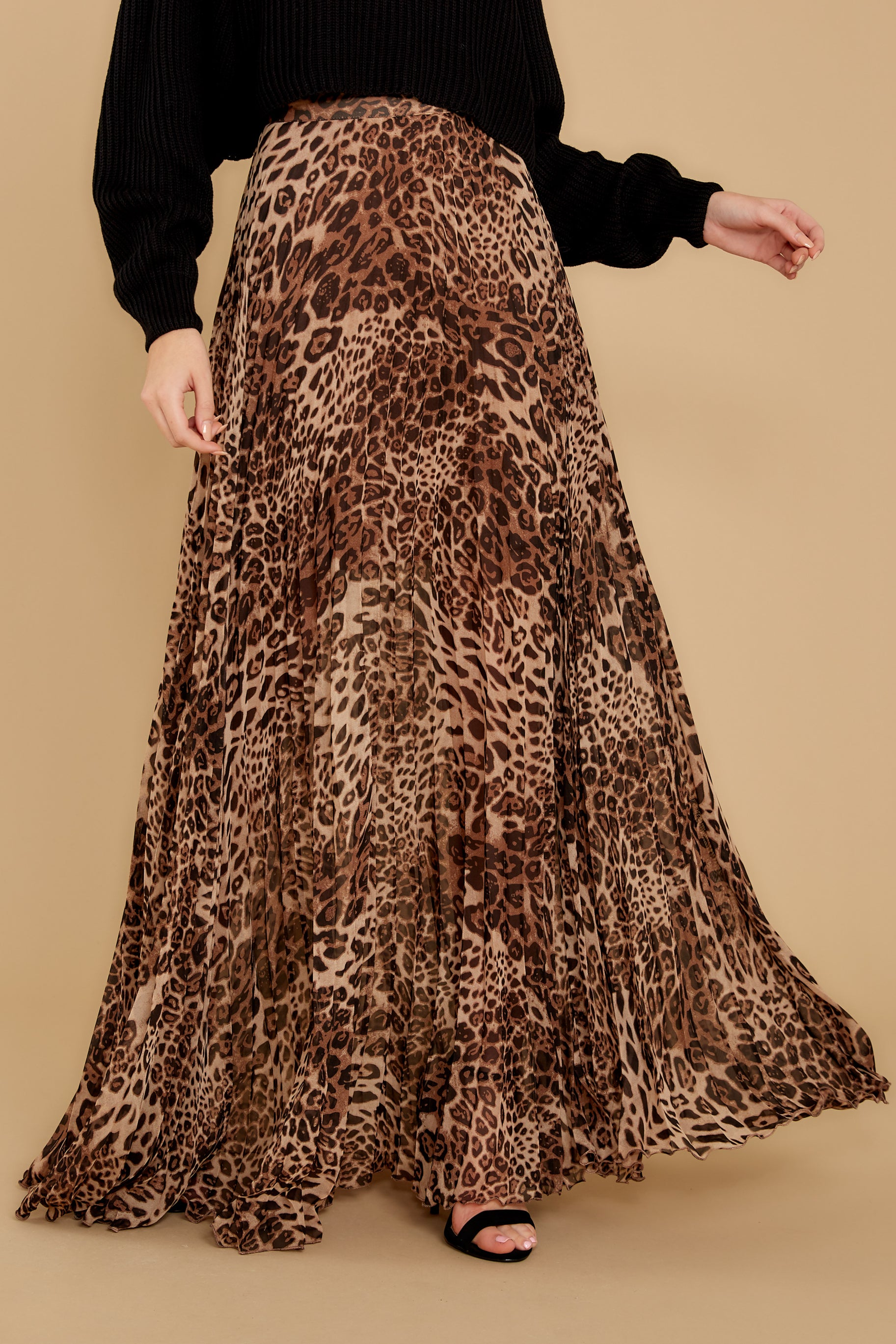 2 Now Trending Leopard Print Midi Skirt at reddressboutique.com