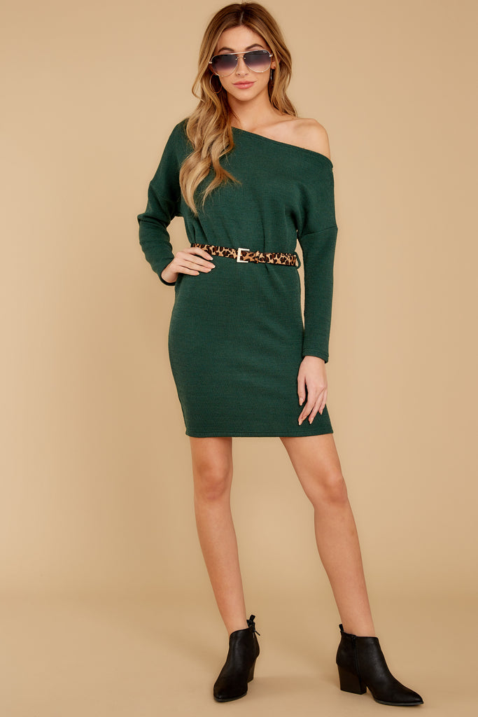 1 Putting It Wildly Mocha Brown Leopard Print Sweater Dress at reddressboutique.com