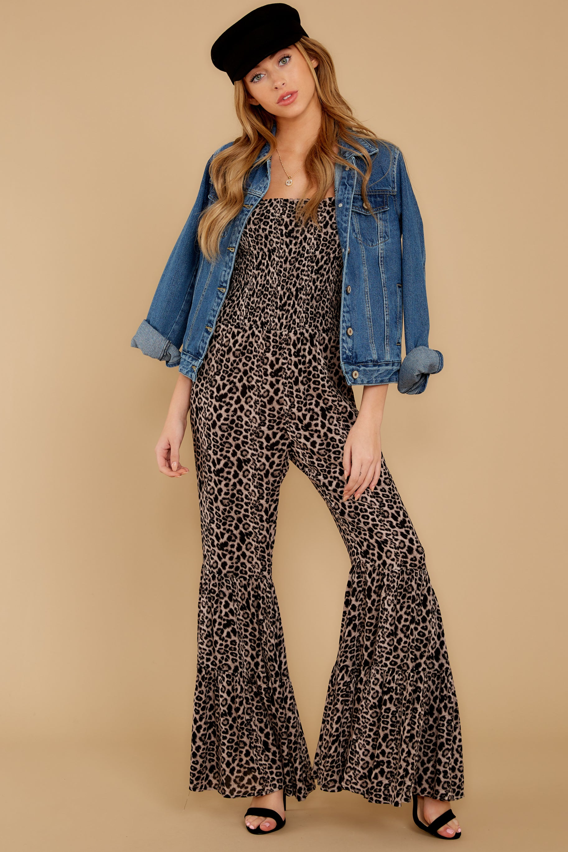 2 It's All Around You Leopard Print Jumpsuit at reddressboutique.com