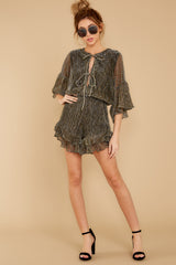 1 Making Distractions Gold Romper at reddressboutique.com