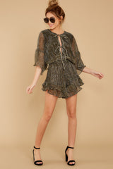 2 Making Distractions Gold Romper at reddressboutique.com