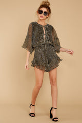 4 Making Distractions Gold Romper at reddressboutique.com