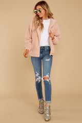 4 Warm Regards Blush Sherpa Jacket at reddressboutique.com