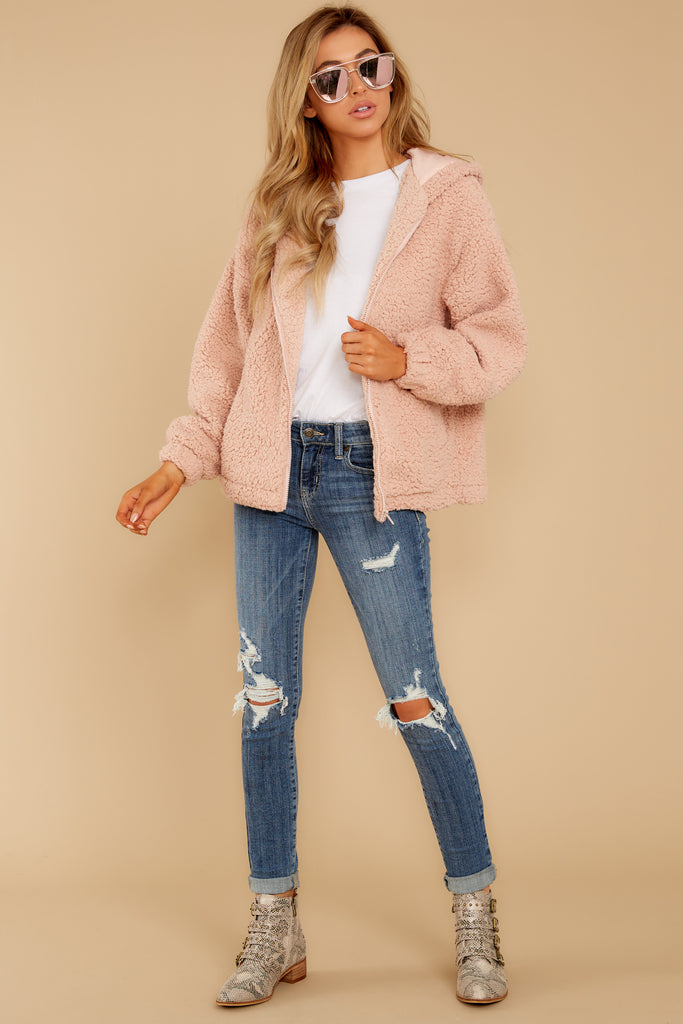 1 The Pearl Sherpa Crop Jacket at reddressboutique.com