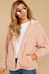5 Warm Regards Blush Sherpa Jacket at reddressboutique.com