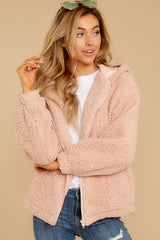 7 Warm Regards Blush Sherpa Jacket at reddressboutique.com