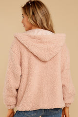 8 Warm Regards Blush Sherpa Jacket at reddressboutique.com