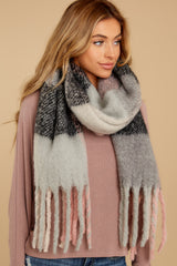 Wrapped In Warmth Blue And Pink Scarf