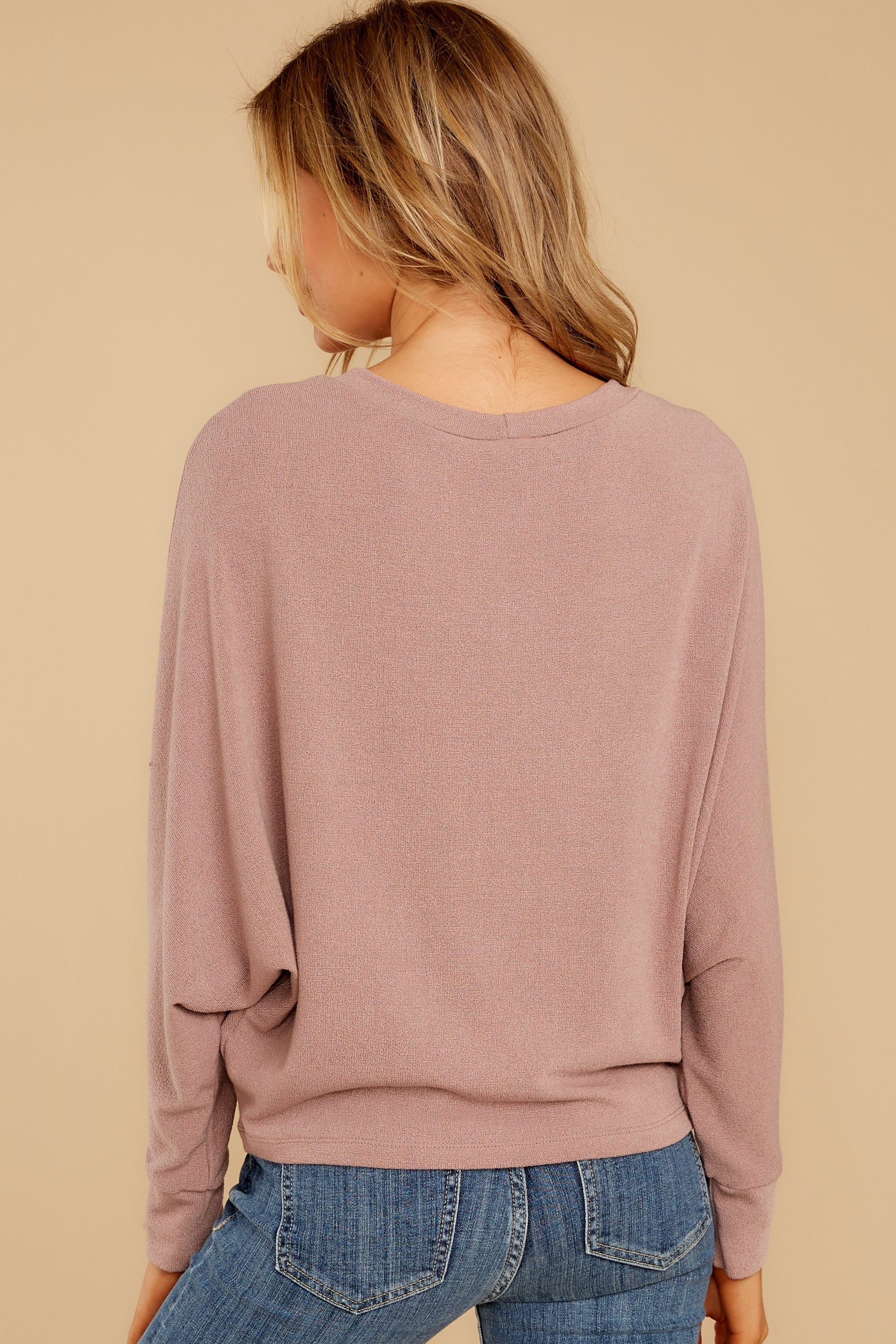 7 Feeling Casual Mauve Top at reddressboutique.com