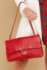4 Polished And Poised Red Bag at reddressboutique.com