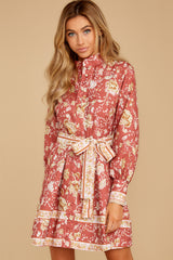 8 Certain Romance Rose Pink Floral Print Dress at reddressboutique.com