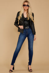 3 Throwback And Smile Black Vegan Leather Jacket at reddressboutique.com