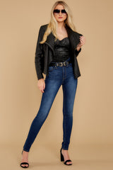 4 Throwback And Smile Black Vegan Leather Jacket at reddressboutique.com