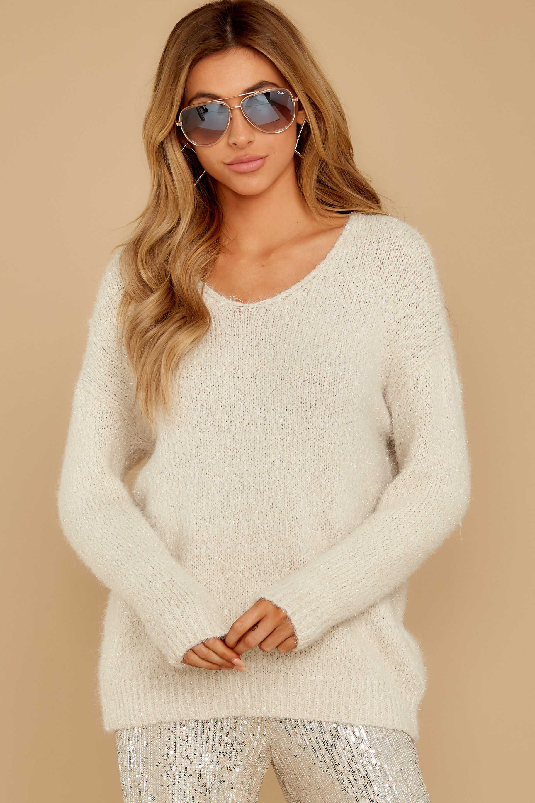 5 Come To Pass Cream Sweater at reddressboutique.com