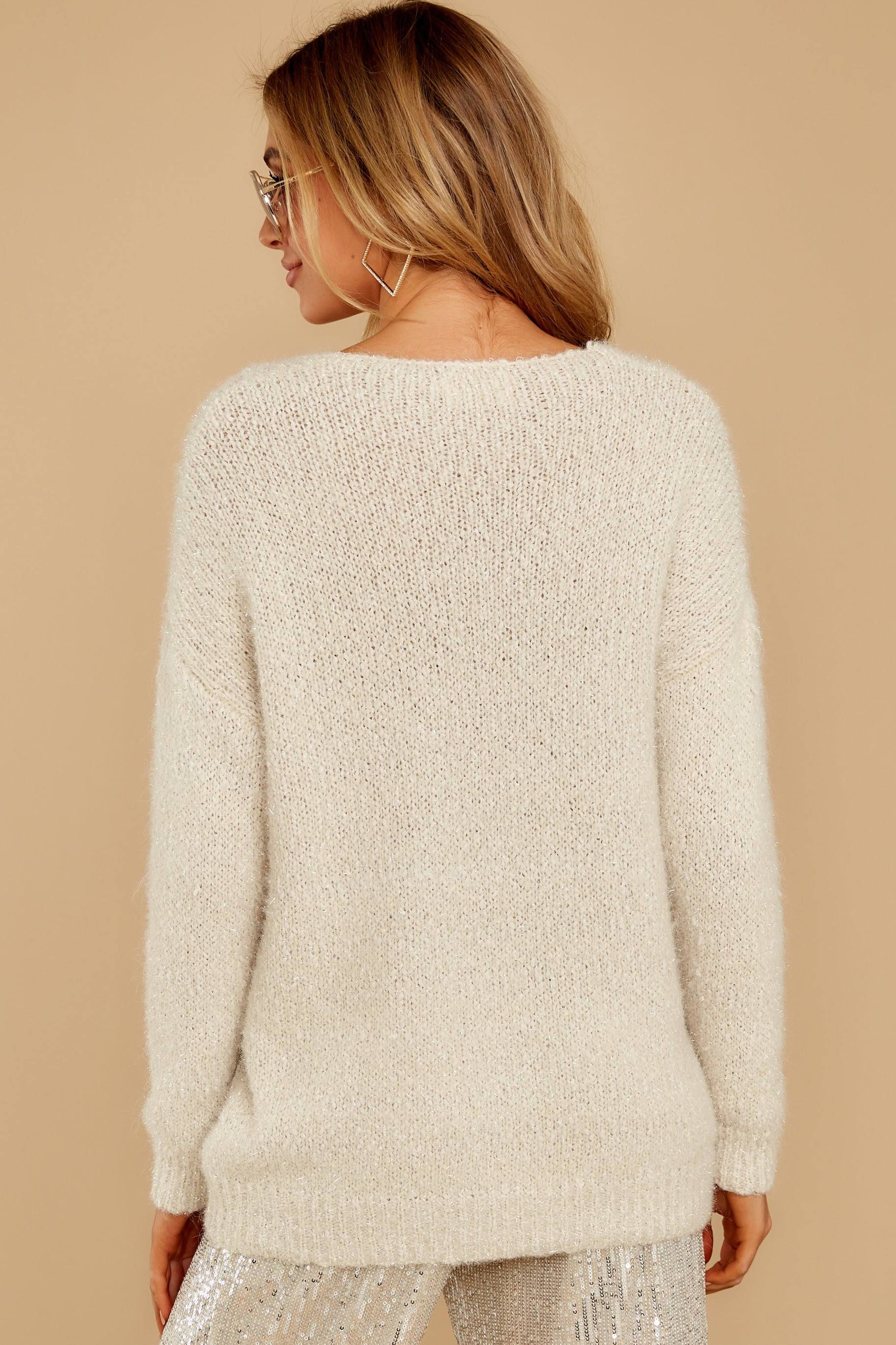 8 Come To Pass Cream Sweater at reddressboutique.com