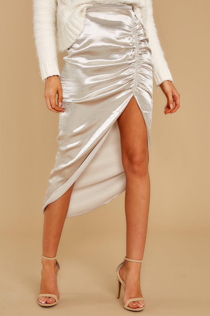 1 A Thing For You Champagne Midi Skirt at reddressboutique.com