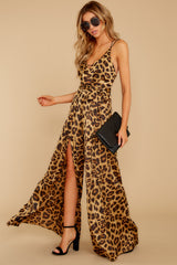 4 She's Dangerous Leopard Print Jumpsuit at reddressboutique.com