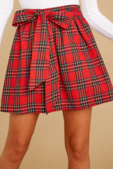 1 Tied With A Bow Red Plaid Skirt at reddress.com