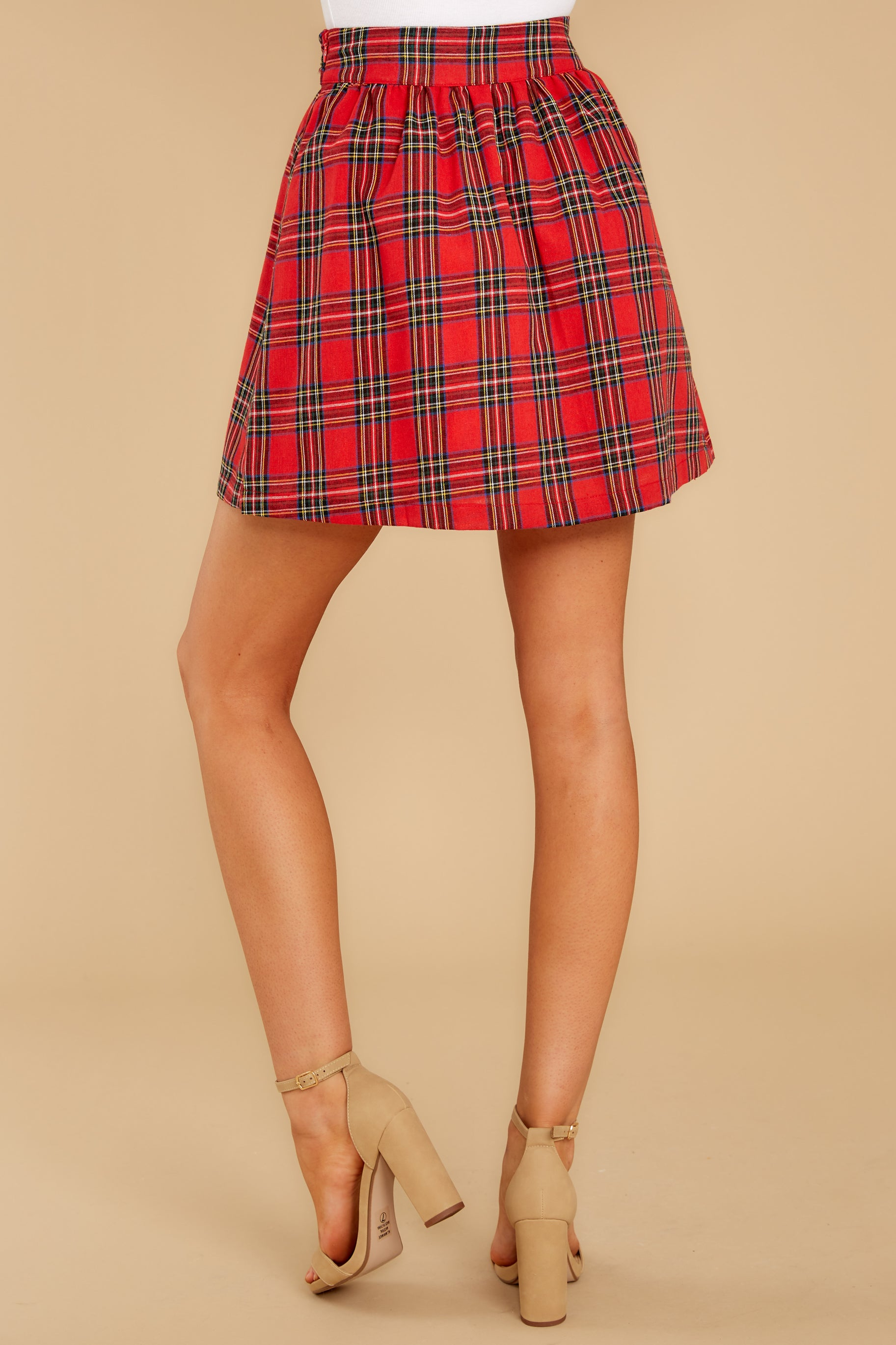 4 Tied With A Bow Red Plaid Skirt at reddress.com