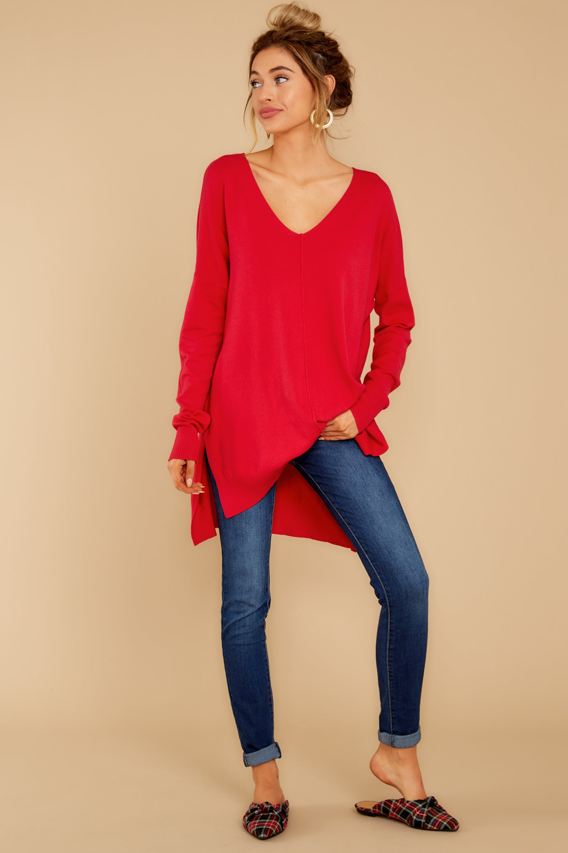 1 Can't Let Go Red Sweater at reddressboutique.com