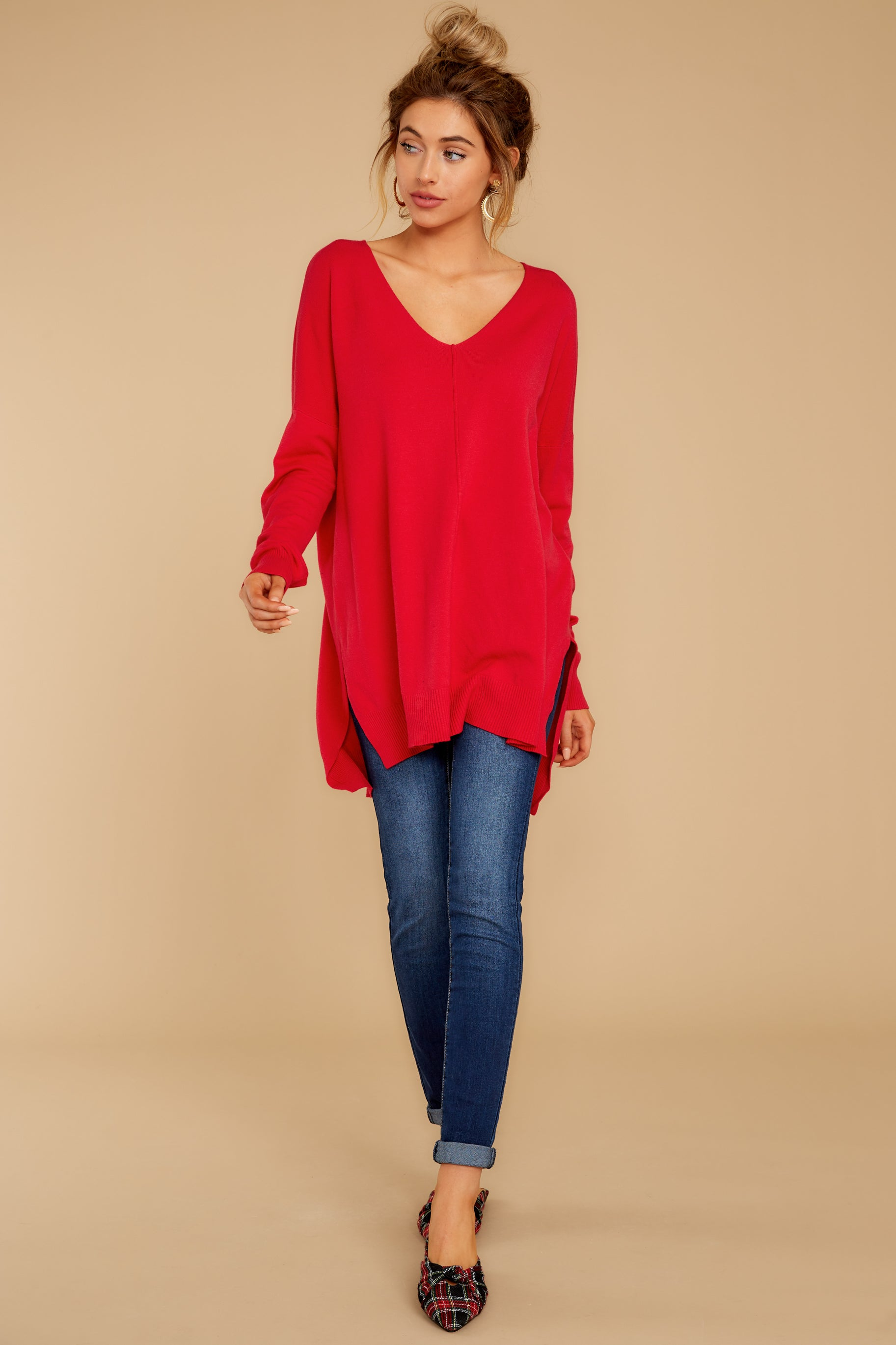 2 Can't Let Go Red Sweater at reddressboutique.com