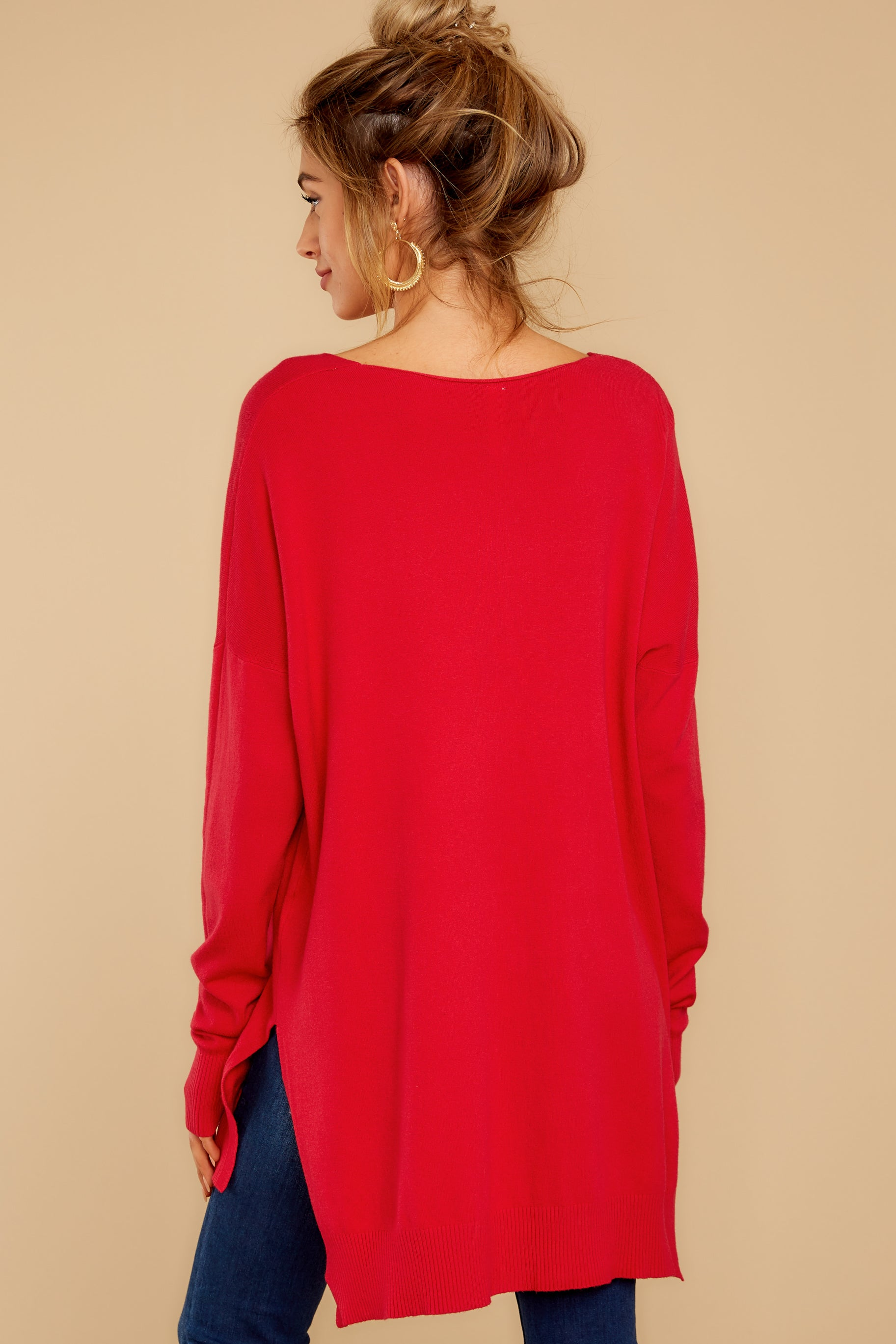 8 Can't Let Go Red Sweater at reddressboutique.com