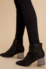 1 A Sparkle In Your Step Black Rhinestone Ankle Booties at reddress.com