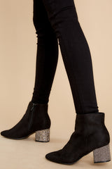 2 A Sparkle In Your Step Black Rhinestone Ankle Booties at reddress.com