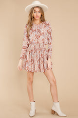 6 Woodstock Multi Paisley Mini Dress at reddress.com