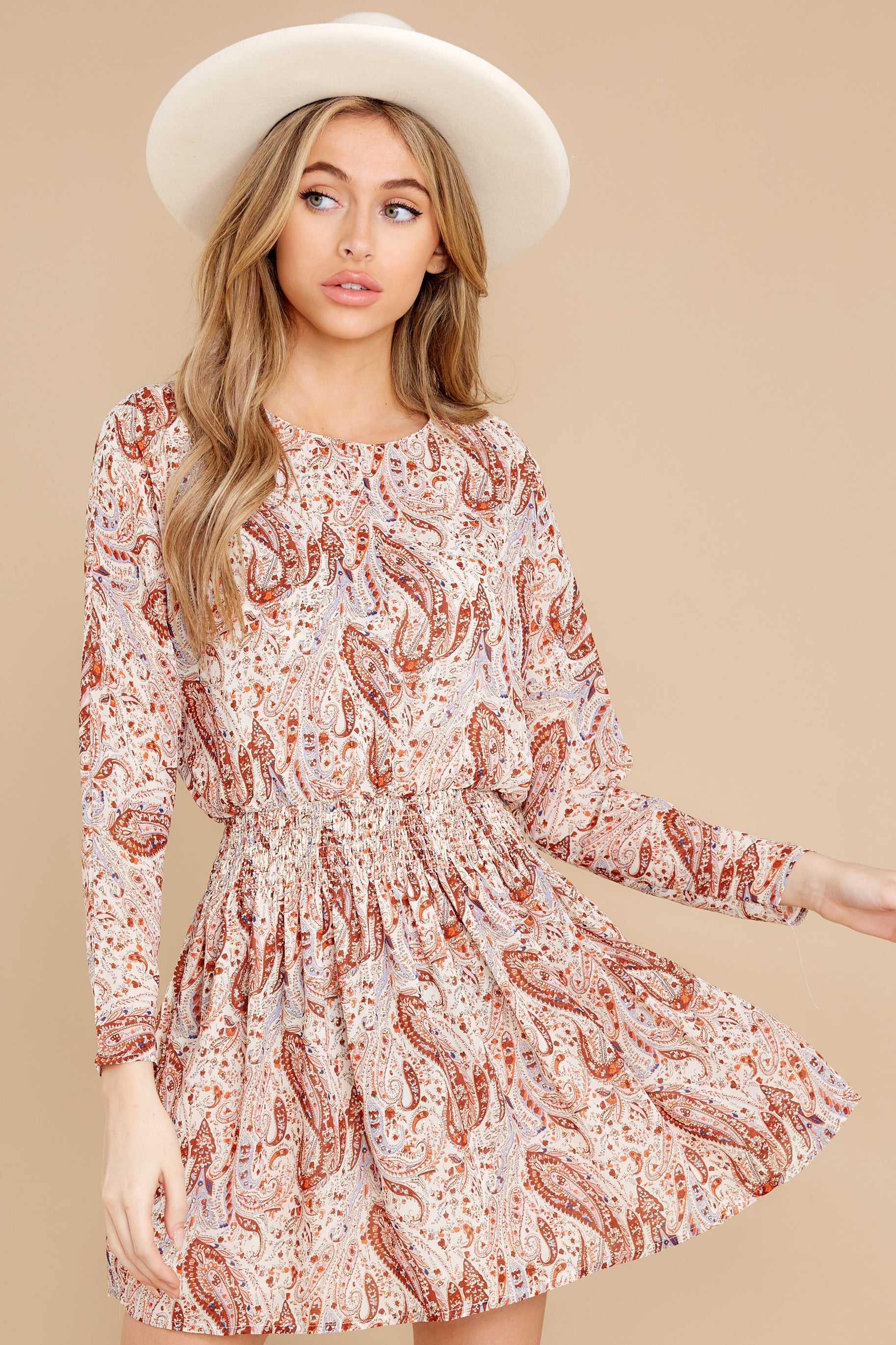 2 Woodstock Multi Paisley Mini Dress at reddress.com