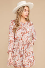 8 Woodstock Multi Paisley Mini Dress at reddress.com