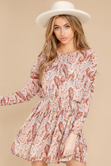 7 Woodstock Multi Paisley Mini Dress at reddress.com