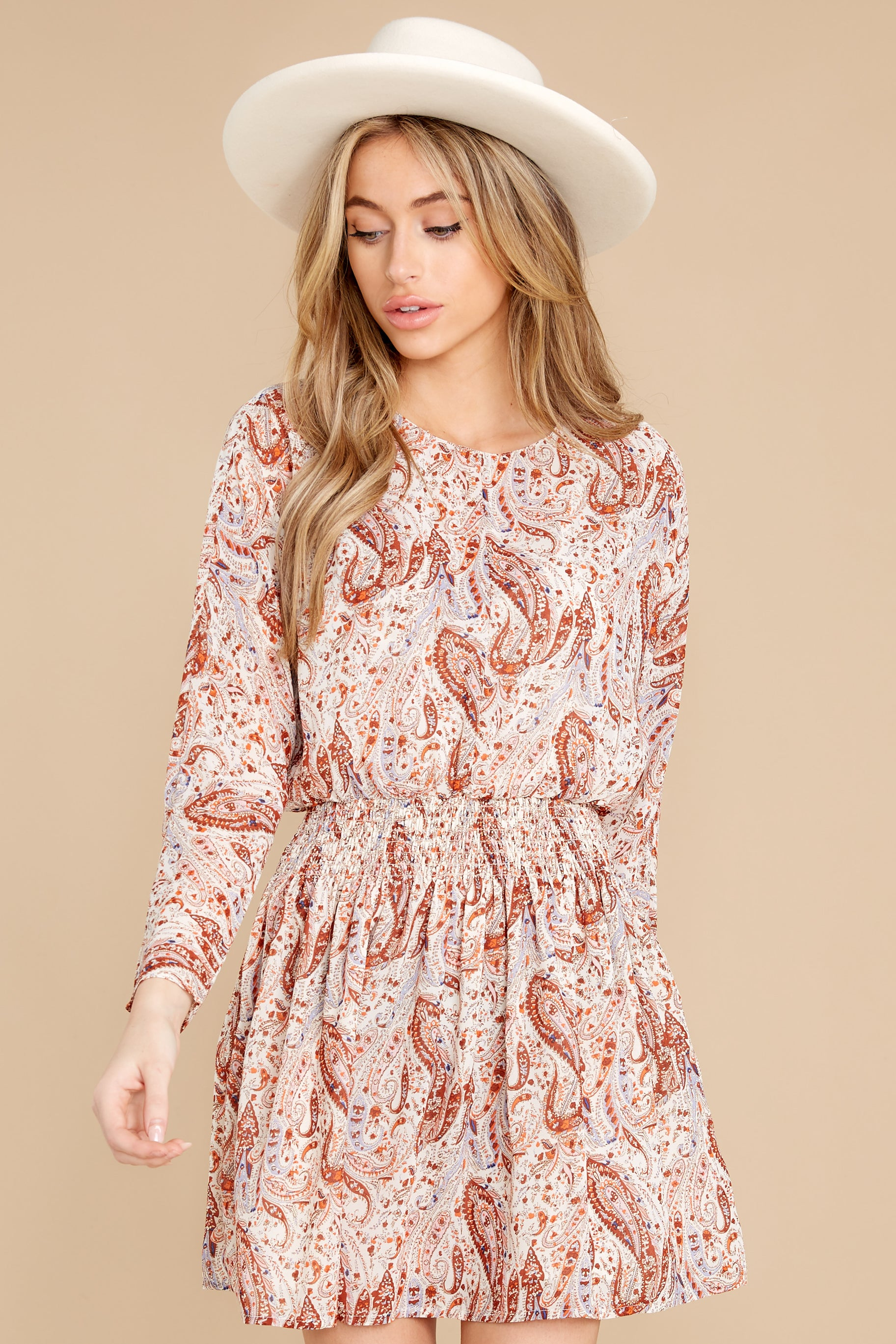 3 Woodstock Multi Paisley Mini Dress at reddress.com