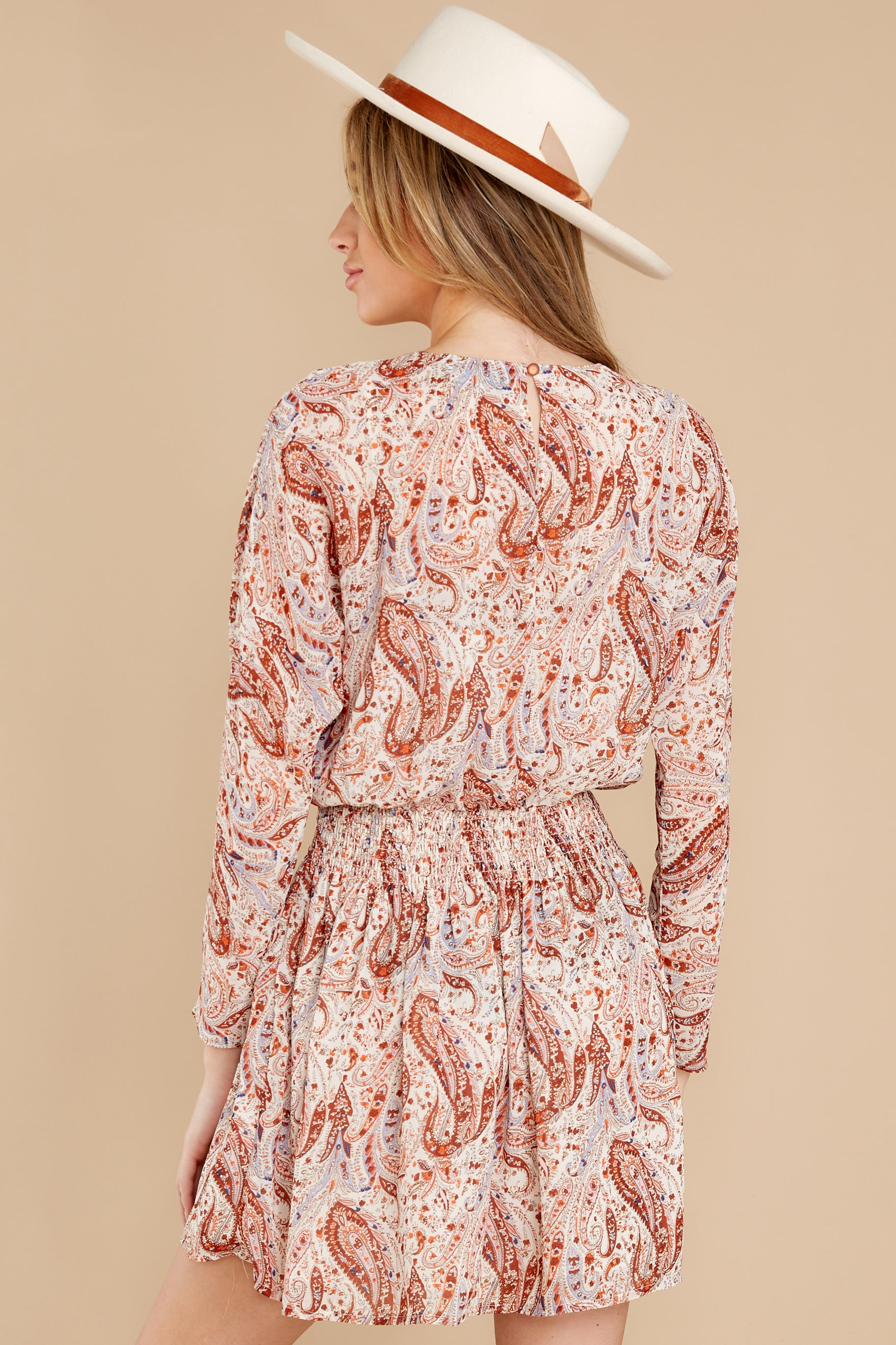 9 Woodstock Multi Paisley Mini Dress at reddress.com