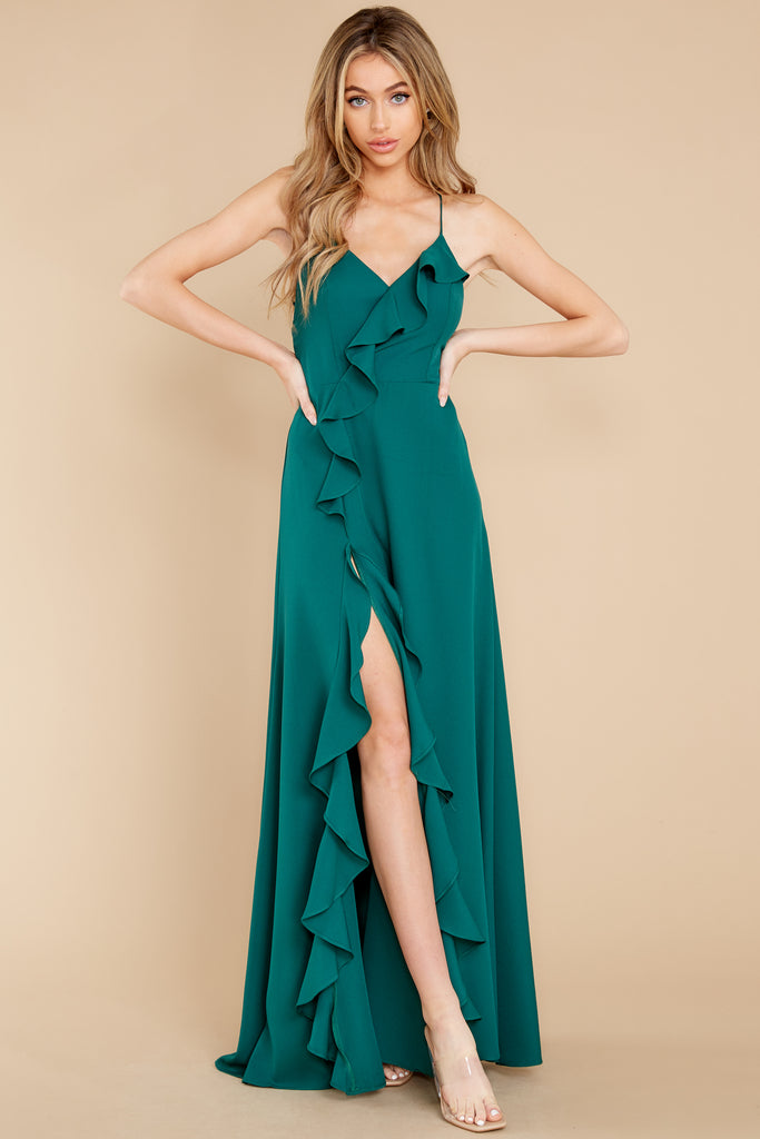 1 Desirable Outcome Hunter Green Dress at reddress.com