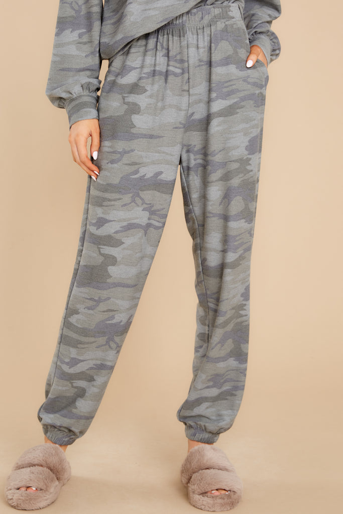 1 The Stakes Are High Sage Camo Joggers at reddress.com