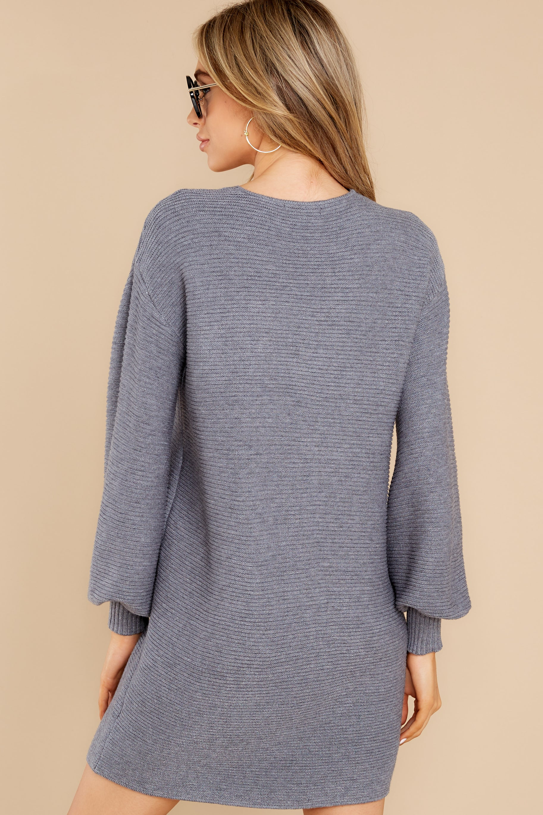 8 Collected Thoughts Charcoal Sweater Dress at reddress.com