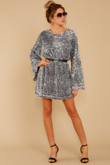 1 Into The Night Silver Sequin Dress at reddressboutique.com