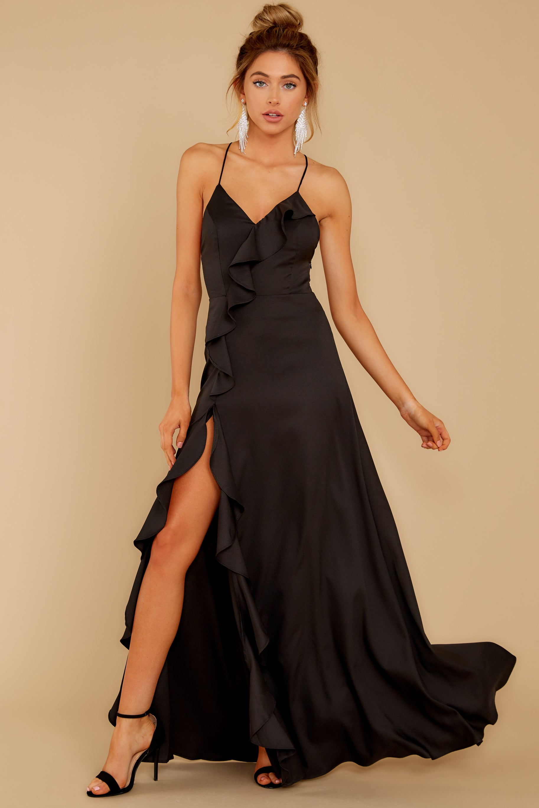 2 More To Come Black Maxi Dress at reddressboutique.com