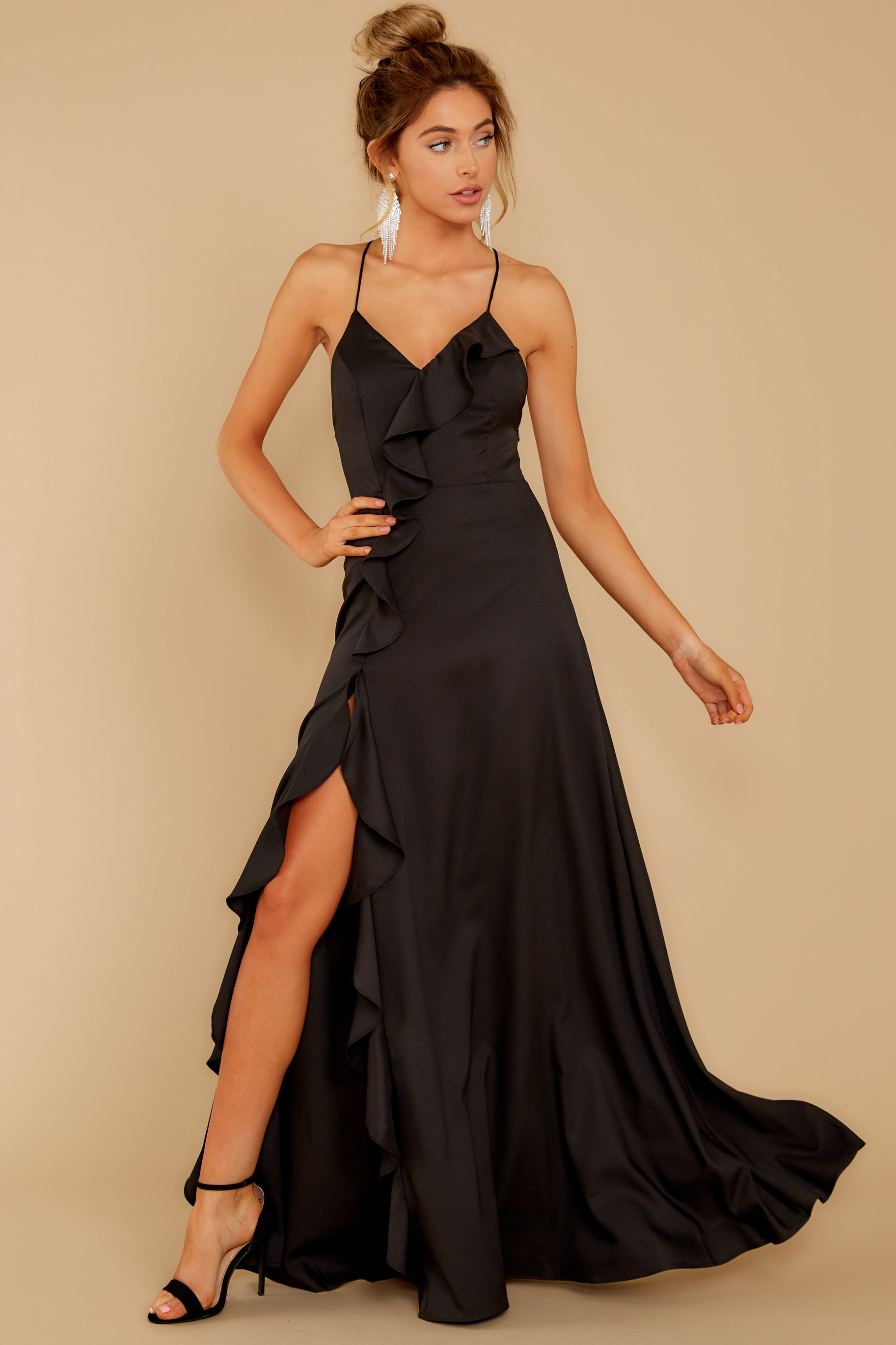 3 More To Come Black Maxi Dress at reddressboutique.com