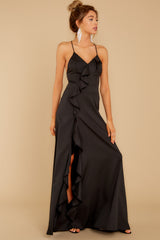 6 More To Come Black Maxi Dress at reddressboutique.com