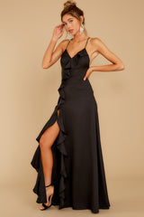 7 More To Come Black Maxi Dress at reddressboutique.com