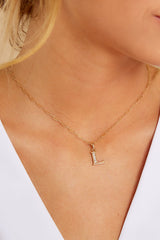 26 L Block Initial Necklace at reddressboutique.com