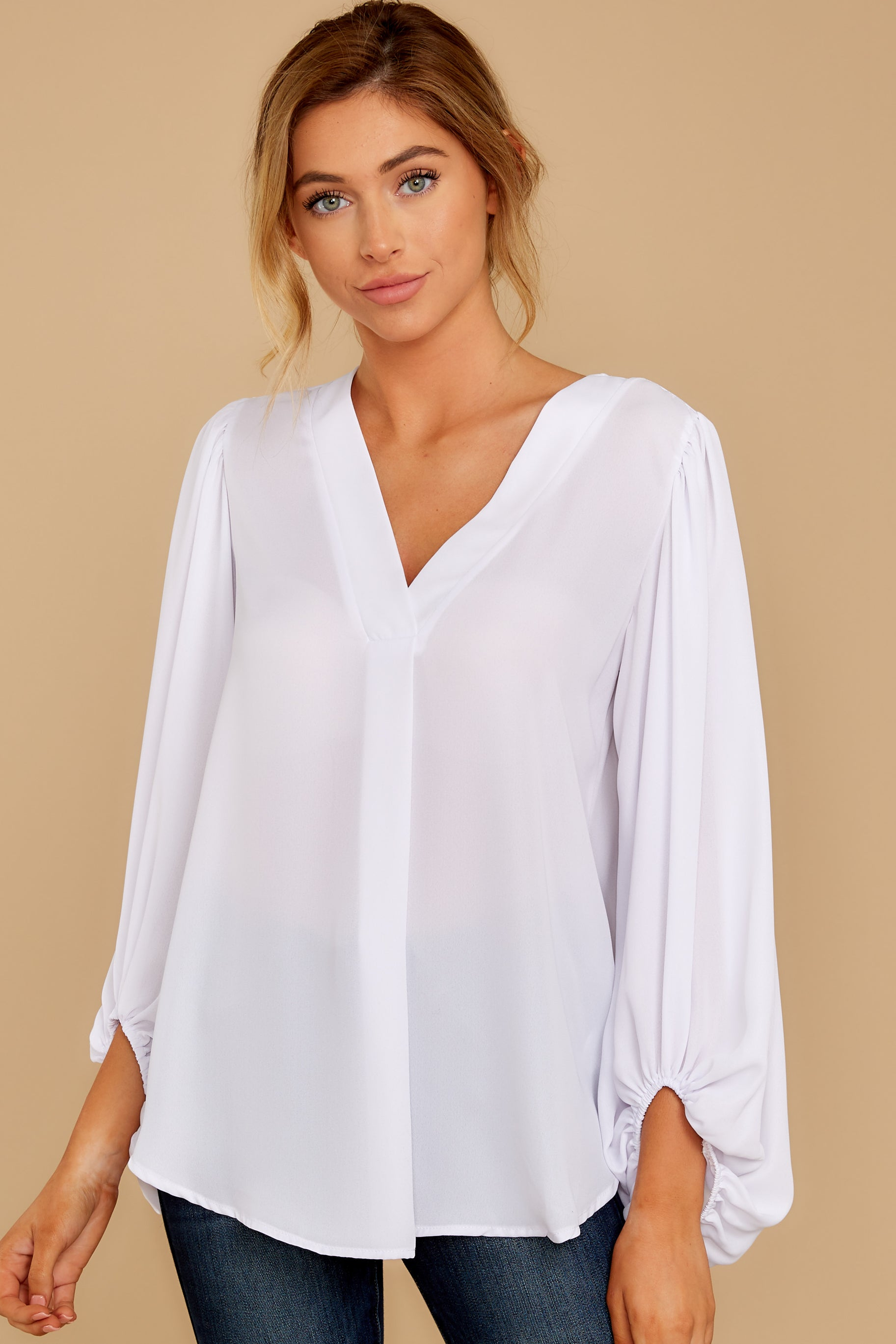 5 Around The Corner White Top at reddressboutique.com
