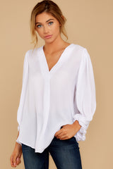 7 Around The Corner White Top at reddressboutique.com