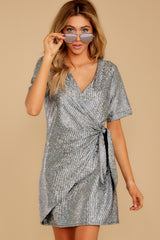 5 Won't Forget Me Silver Holographic Dress at reddressboutique.com