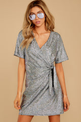 7 Won't Forget Me Silver Holographic Dress at reddressboutique.com