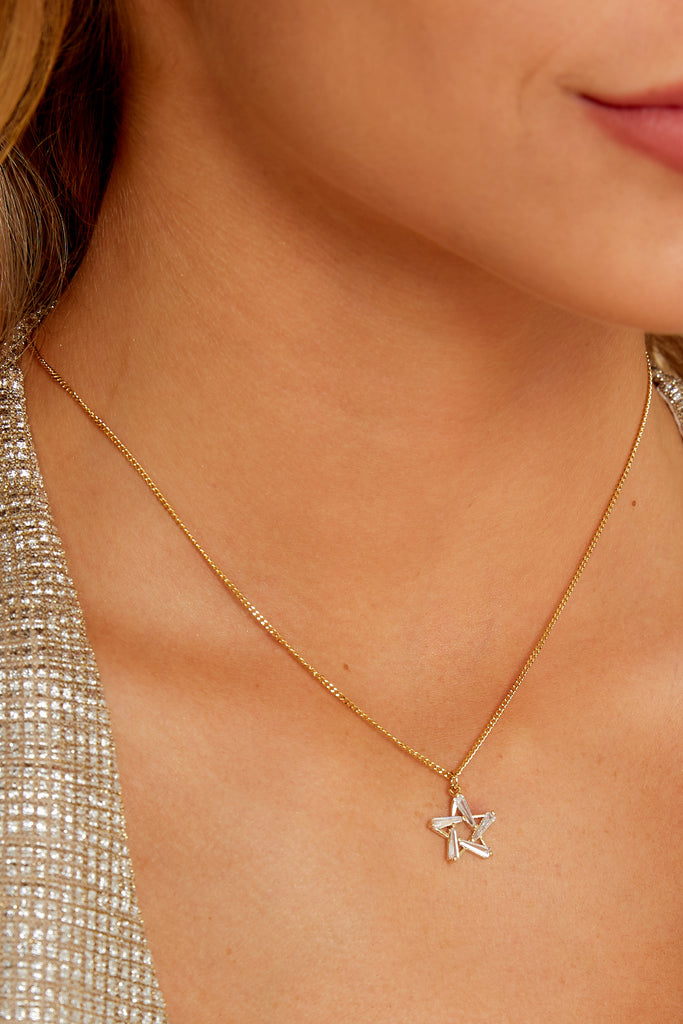 Before All Else Gold Initial Necklace