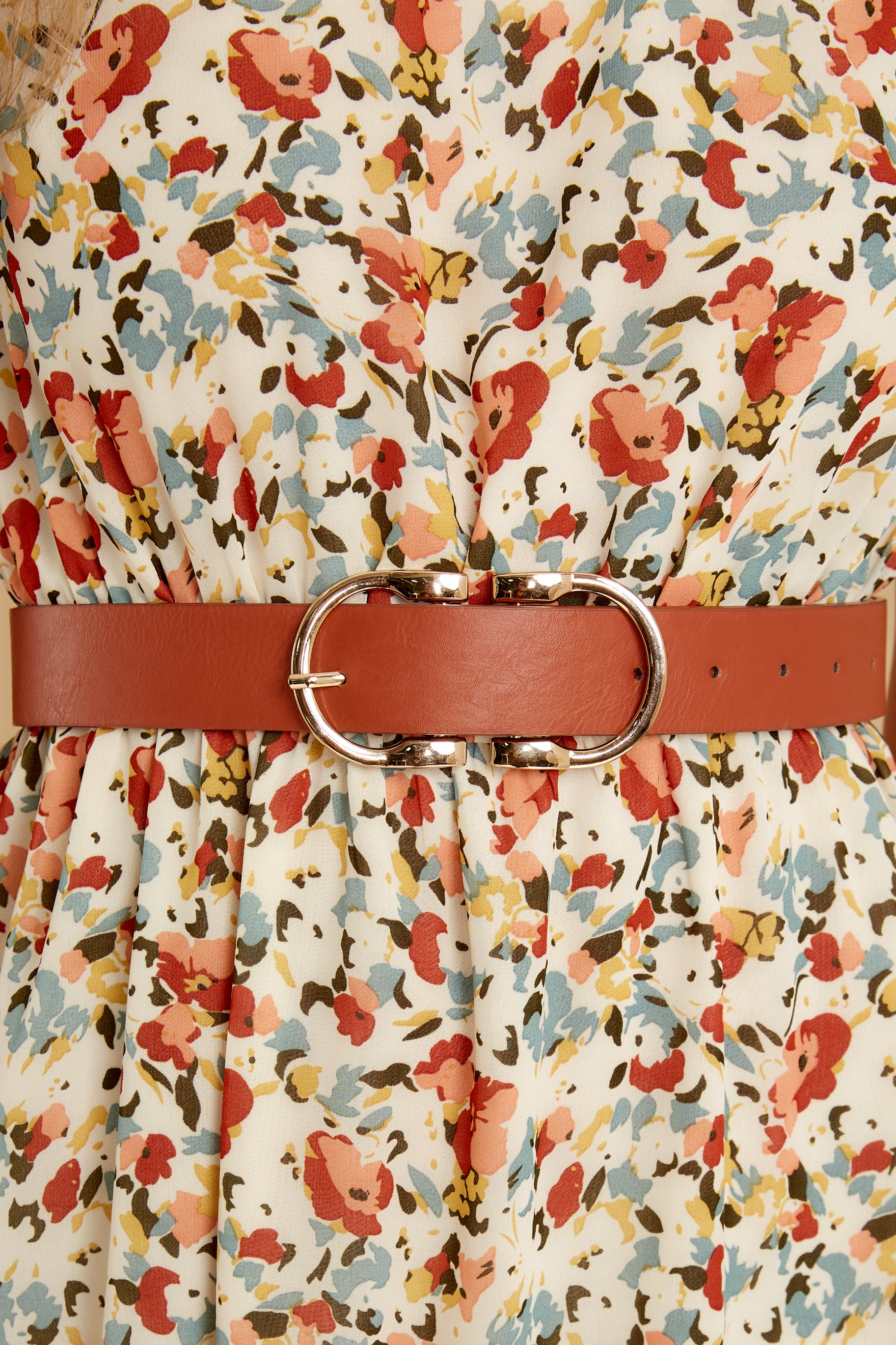 2 Here To There Cognac Belt at reddress.com